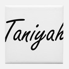 Taniyah artistic Name Design Tile Coaster