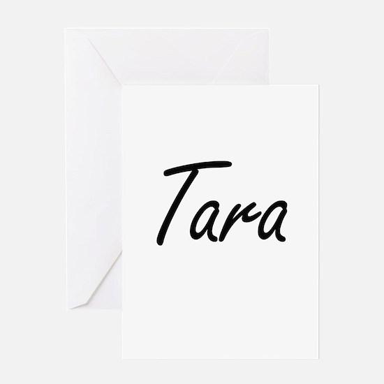 Tara artistic Name Design Greeting Cards
