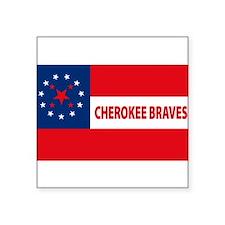 """Unique Cherokee Square Sticker 3"""" x 3"""""""