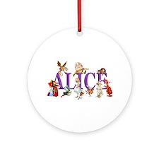 Alice and Friends in Wonderland, Ornament (Round)