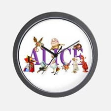 Alice and Friends in Wonderland, includ Wall Clock