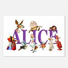 Alice and Friends in Wond Postcards (Package of 8)