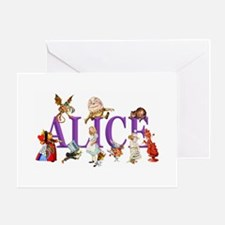 Alice and Friends in Wonderland, inc Greeting Card