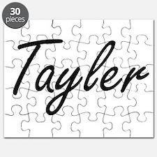 Tayler artistic Name Design Puzzle