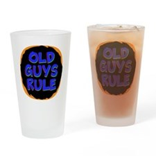 Old Guys Rule Drinking Glass