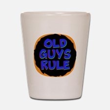Old Guys Rule Shot Glass