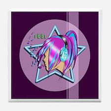 Feel the Music Tile Coaster
