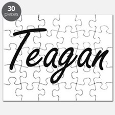 Teagan artistic Name Design Puzzle