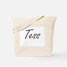 Tess artistic Name Design Tote Bag