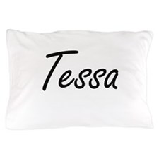 Tessa artistic Name Design Pillow Case