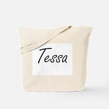 Tessa artistic Name Design Tote Bag