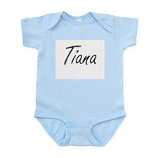Tiana artistic Name Design Body Suit