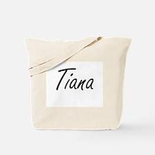 Tiana artistic Name Design Tote Bag