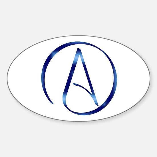 Atheism Symbol Sticker (Oval)