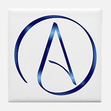 Atheism Symbol Tile Coaster
