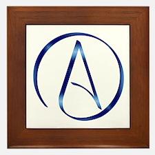 Atheism Symbol Framed Tile