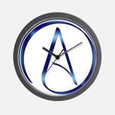 Atheism Symbol Wall Clock