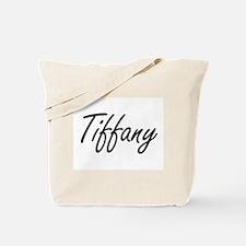 Tiffany artistic Name Design Tote Bag