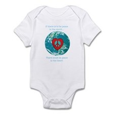 World Peace Heart Infant Bodysuit