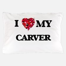 I Love MY Carver Pillow Case