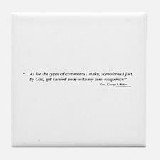 George S. Patton comments Tile Coaster