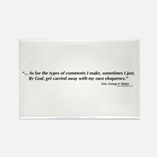 George S. Patton comments Rectangle Magnet