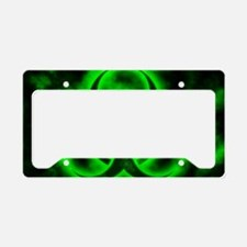 Green Biohazard Symbol License Plate Holder