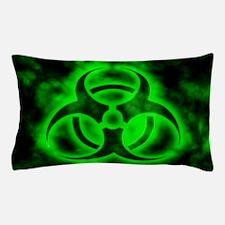 Green Biohazard Symbol Pillow Case