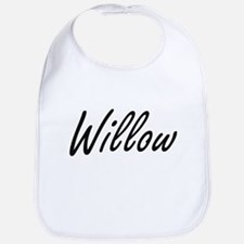 Willow artistic Name Design Bib