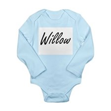 Willow artistic Name Design Body Suit