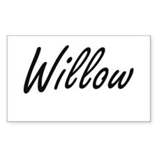 Willow artistic Name Design Decal