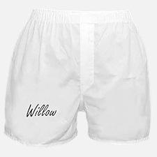 Willow artistic Name Design Boxer Shorts