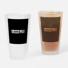 U.S. Flag: Alabama Drinking Glass