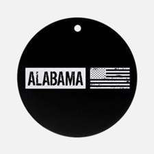 U.S. Flag: Alabama Ornament (Round)