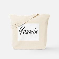Yasmin artistic Name Design Tote Bag