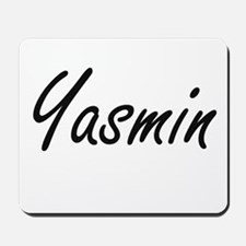 Yasmin artistic Name Design Mousepad