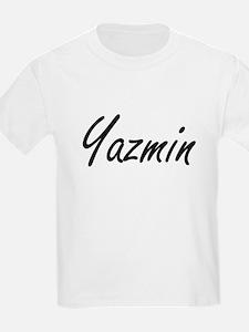 Yazmin artistic Name Design T-Shirt