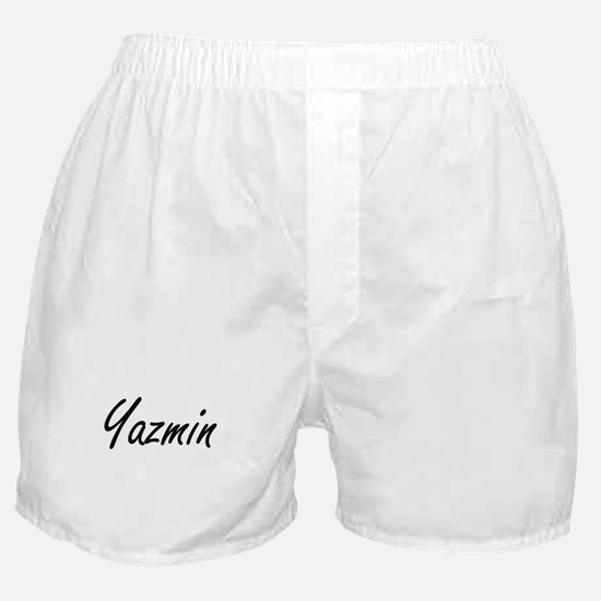 Yazmin artistic Name Design Boxer Shorts