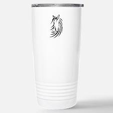 Black Horse Stainless Steel Travel Mug