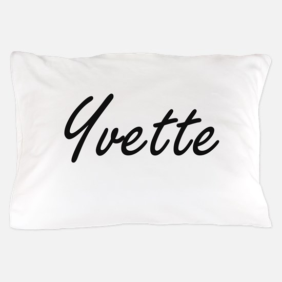 Yvette artistic Name Design Pillow Case