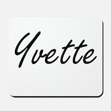 Yvette artistic Name Design Mousepad