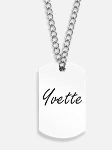 Yvette artistic Name Design Dog Tags