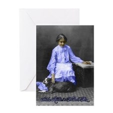 womens_history_helen_keller a 5x7 copy Greeting Ca