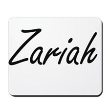 Zariah artistic Name Design Mousepad