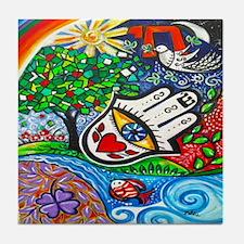 Hamsa Del Amor Tile Coaster