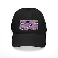 Purple Bat Pattern Baseball Hat