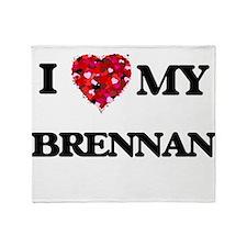 I Love MY Brennan Throw Blanket