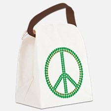 Green Peace Canvas Lunch Bag