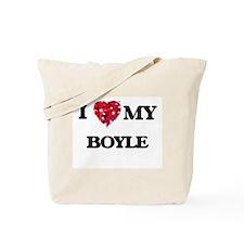 I Love MY Boyle Tote Bag