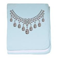 Big Diamond Necklace baby blanket